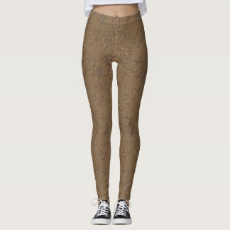 Grey and Brown Flecked Leggings