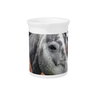 Grey and Brown Horses Pitcher