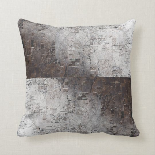 Grey and Brown Space Abstract Cushion