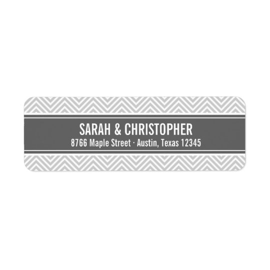 Grey and Charcoal Modern Chevron