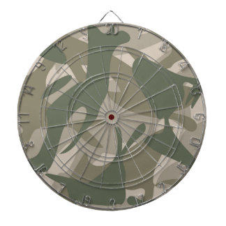 Grey and Green Camouflage Dartboard