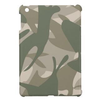 Grey and Green Camouflage iPad Mini Covers