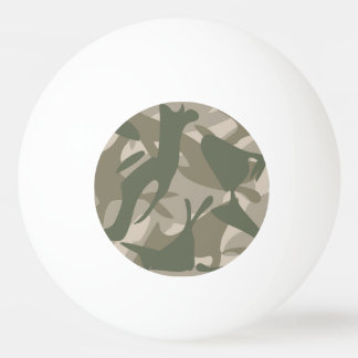 Grey and Green Camouflage Ping Pong Ball