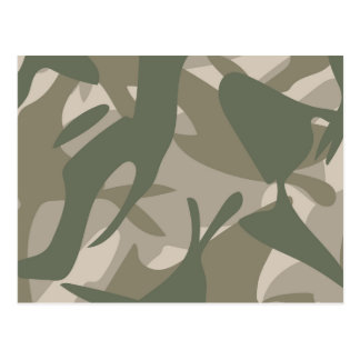 Grey and Green Camouflage Postcard