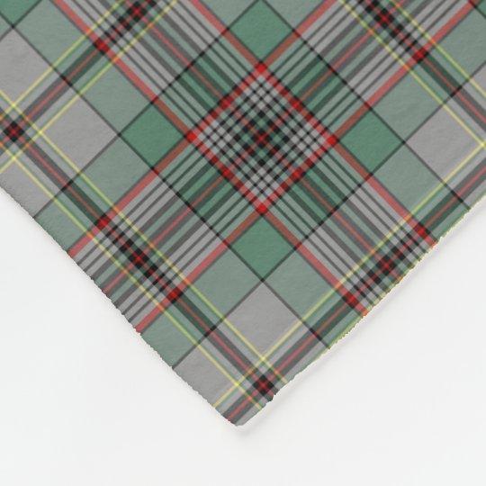 Grey and Green Craig Clan Tartan Fleece Blanket