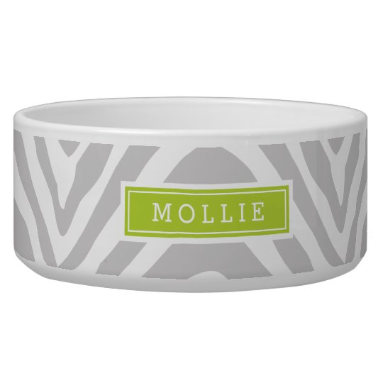 Grey and Green Zebra Print Monogram