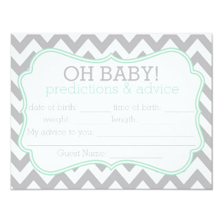Grey and Mint Chevron Predictions & Advice Card