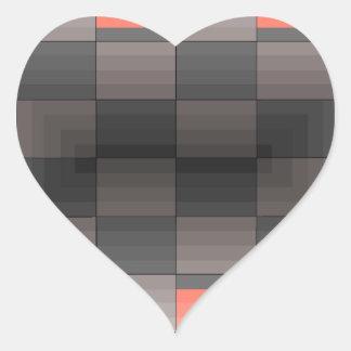Grey and Orange Squares Trendy Geometric Stickers