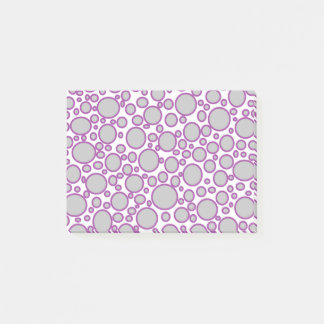 Grey and Purple Polka Dots Post-it Notes