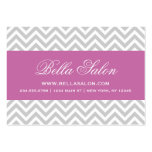 Grey and Radiant Orchid Chevron Stripes Pack Of Chubby Business Cards