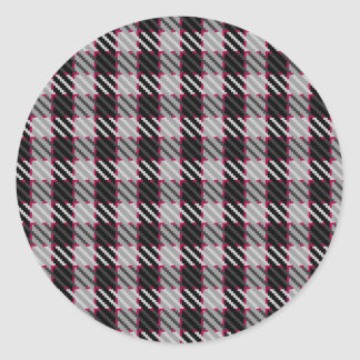 Grey and Red Check Sticker