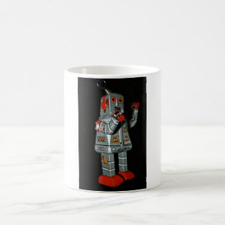 Grey and Red Robot Mechanical Toy Mug