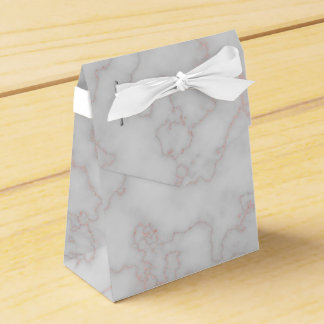 Grey and Rose Pink Marble Favour Box
