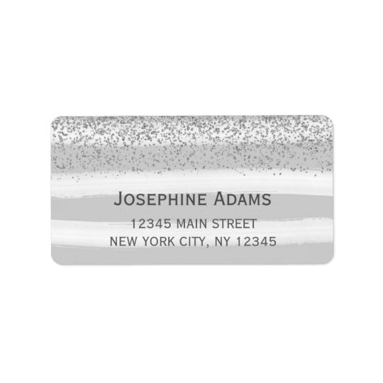 Grey and Silver Address Labels
