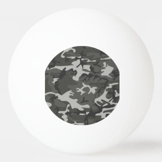 Grey and White Camouflage II Ping Pong Ball