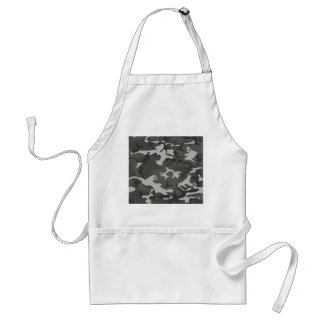 Grey and White Camouflage II Standard Apron