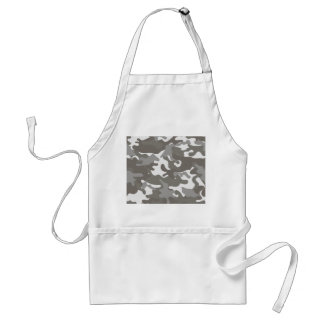 Grey and White Camouflage Standard Apron