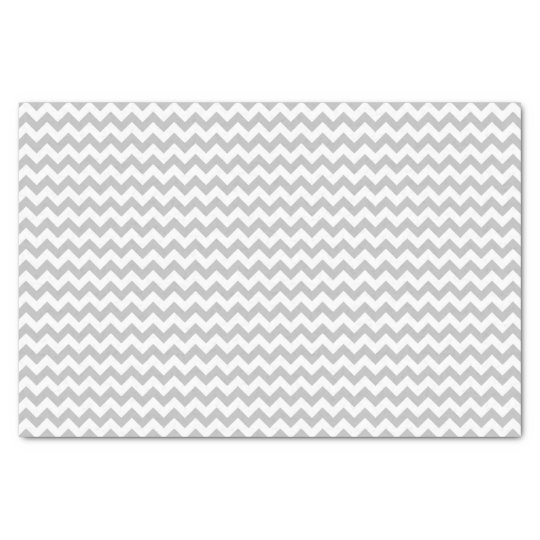 Grey and white chevron pattern custom tissue paper