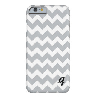Grey and White Chevron Stripe Barely There iPhone 6 Case
