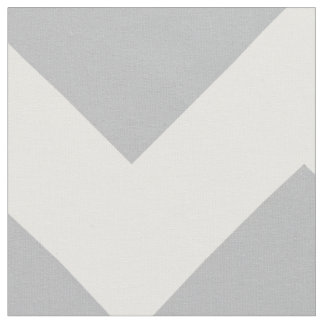 Grey and White Chevron Stripe Fabric
