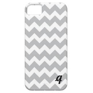 Grey and White Chevron Stripe iPhone 5 Cover