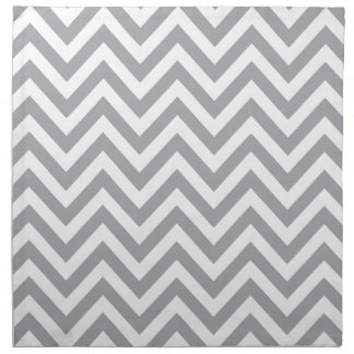 Grey and White Chevron  Zigzag Pattern Napkin