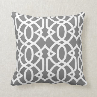 Grey and White design Cushion
