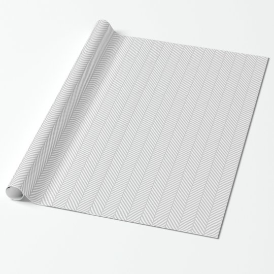 Grey and White Herringbone Wrapping Paper