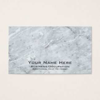 Grey and White Marble Look Business Cards