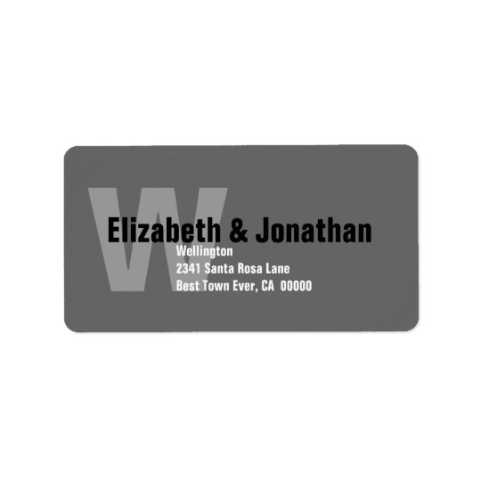 Grey and White Modern Custom Address Label V3