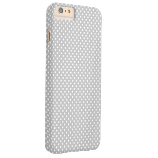 Grey and white Polka Dot Barely There iPhone 6 Plus Case