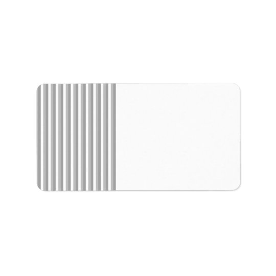 Grey and white stripes. Pattern. Address Label