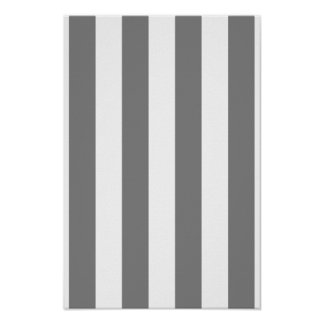 Grey and White Stripes Poster