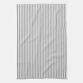 Grey and White Stripes Tea Towel