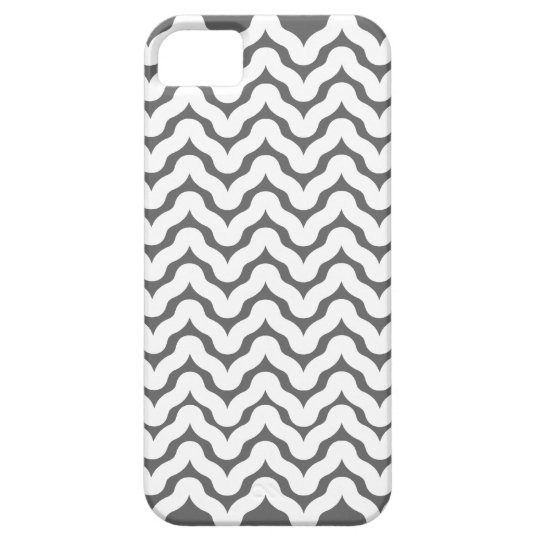 Grey and White Wavy Squiggles Pattern iPhone 5