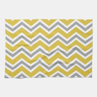 Grey and Yellow Chevron Kitchen Towel
