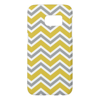 Grey and Yellow Chevron Samsung Galaxy S7 Case