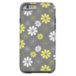 Grey and Yellow Flower Pattern