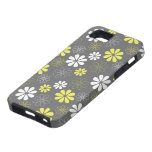 Grey and Yellow Flower Pattern iPhone 5 Covers
