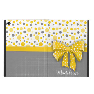 Grey and Yellow Polka Dots, Sunny Yellow Ribbon Powis iPad Air 2 Case