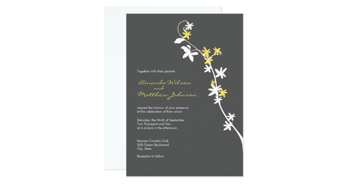 Yellow Grey Wedding Invitations: Grey And Yellow Wedding Invitations