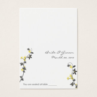 Grey and Yellow Wedding Placecards