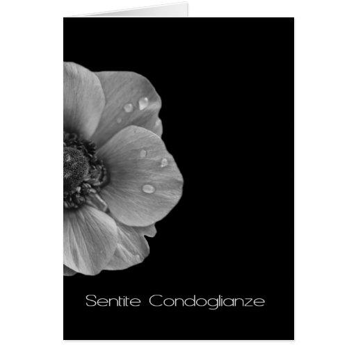 Grey Anemone symapthy card italian