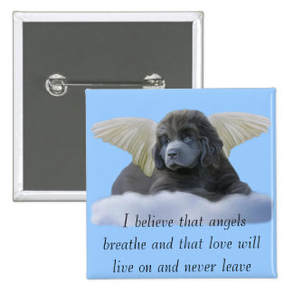 Grey Angel ~ I Believe 15 Cm Square Badge