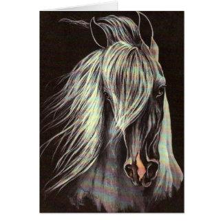 Grey Arabian Card