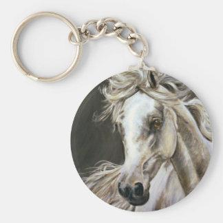 grey arabian key ring