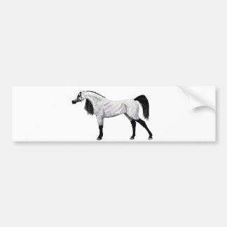 Grey Arabian Stallion Bumper Sticker