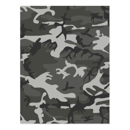 Grey army camouflage postcards