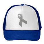 grey awareness ribbon cap