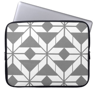 Grey Aztec Geometric Design Laptop Sleeve